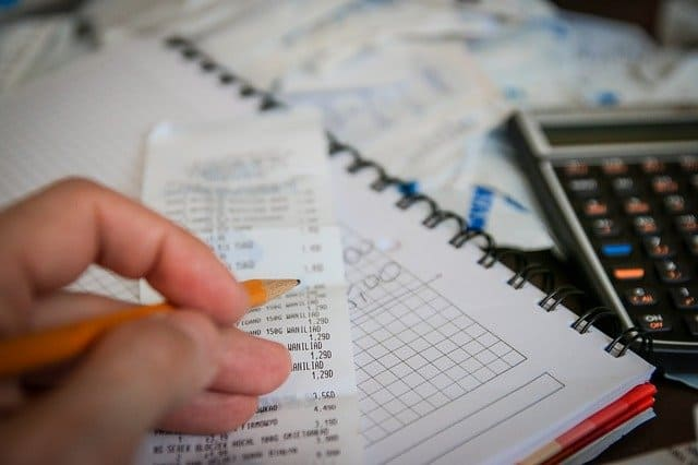 bill and calculator